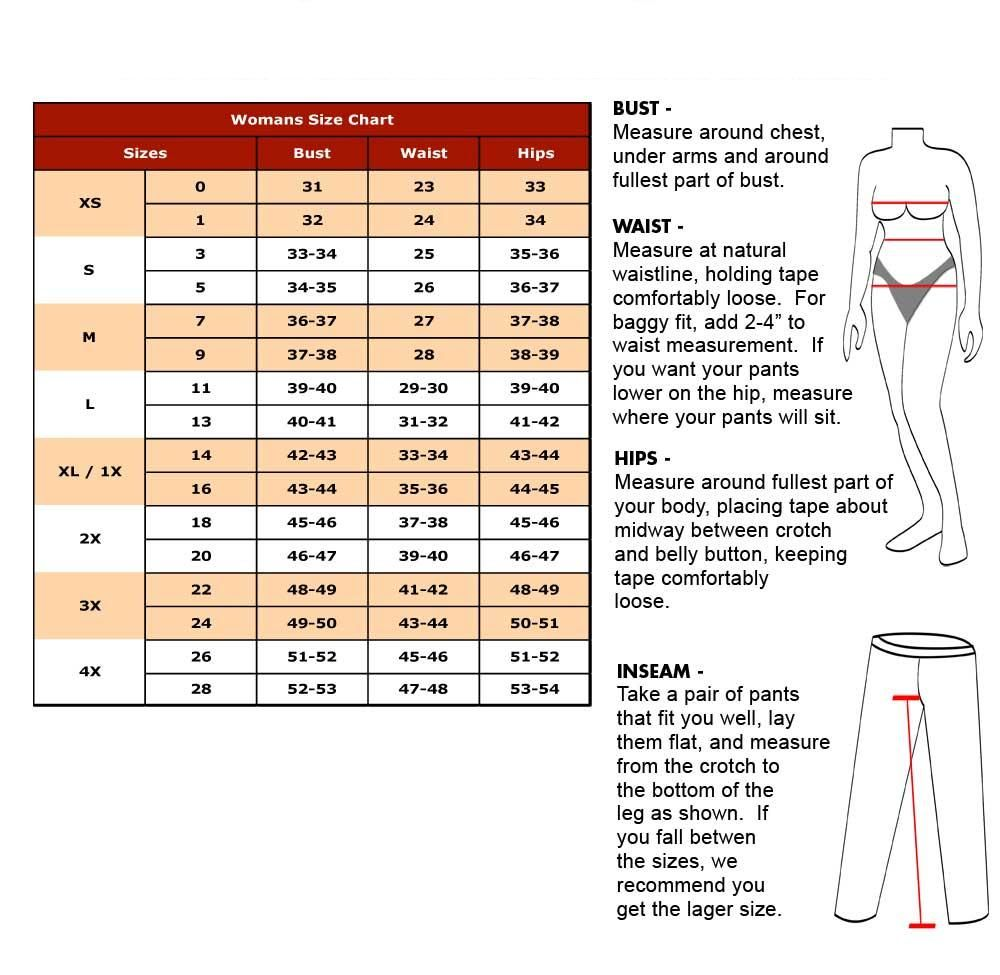 But women's clothing sizes are unrelated to actual body measurements, with sizes ranging from 0 to 24 or larger. Of course, this means that when one converts women's pants sizes to men's, one must add 21 inches to the women's pants size to get the men's waist measurement.