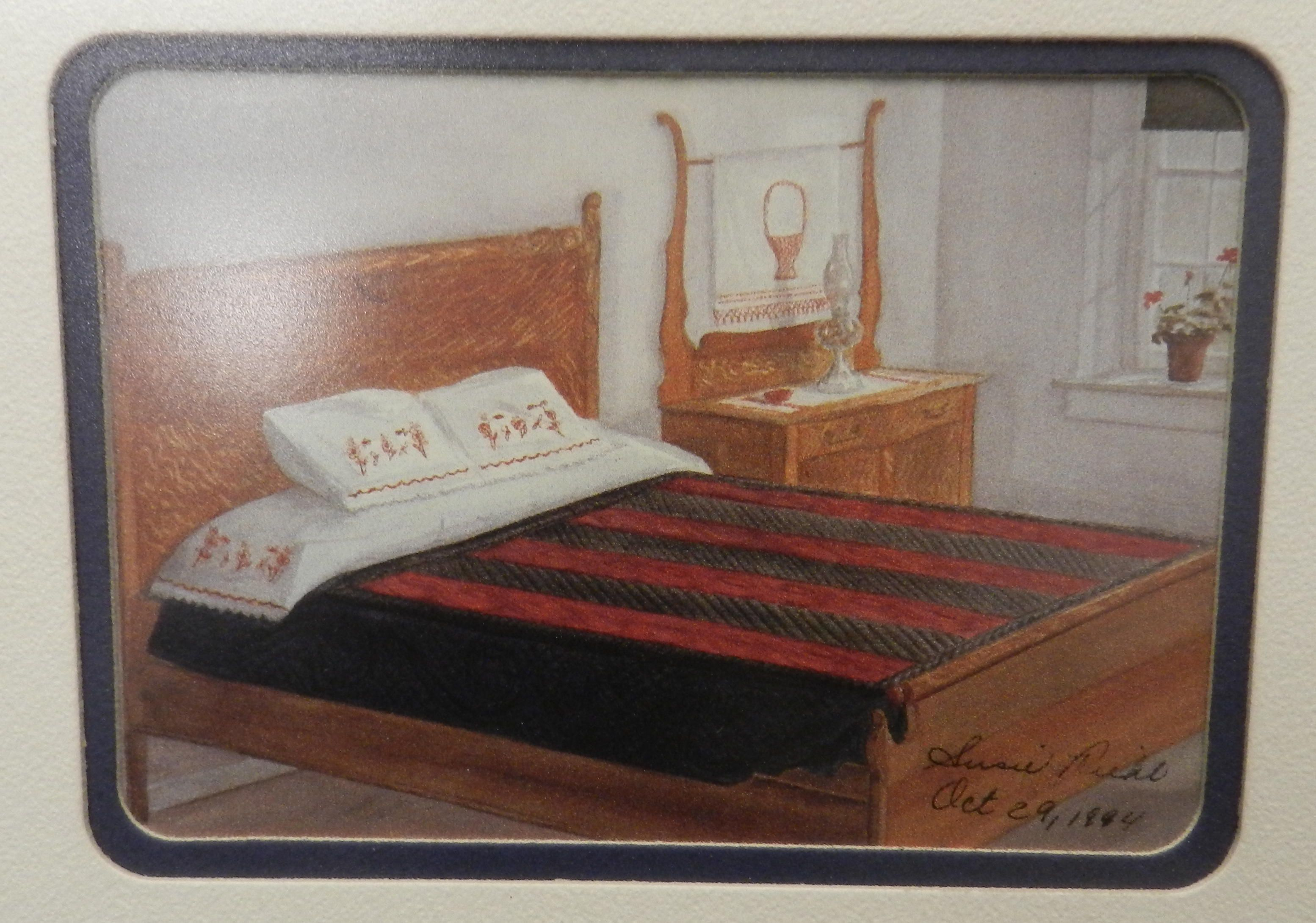 signed 1994 lancaster amish susie riehl quilt spread bed