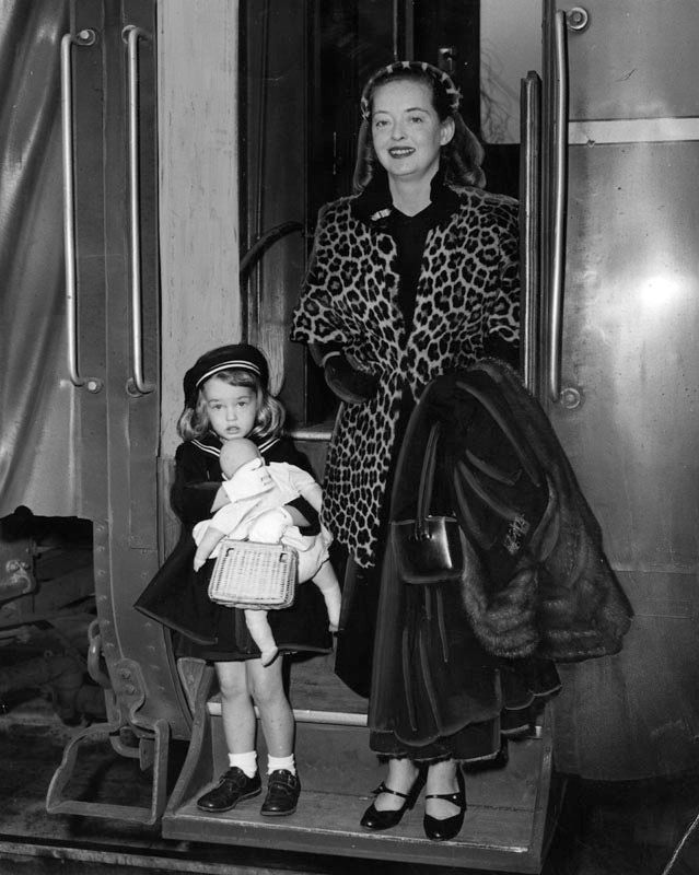 Bette Davis with her daughter Barbara (BD)