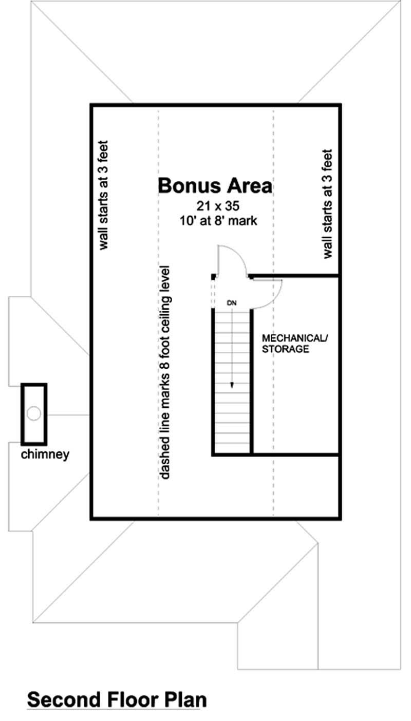 house plan GAR-74002 second story
