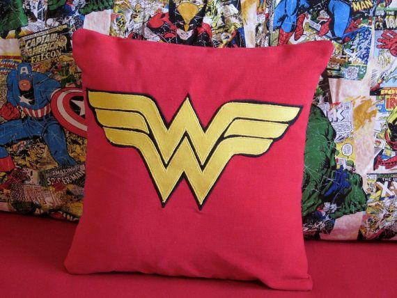 Wonder Woman Pillow Case 12x12 Wonder Woman Superhero