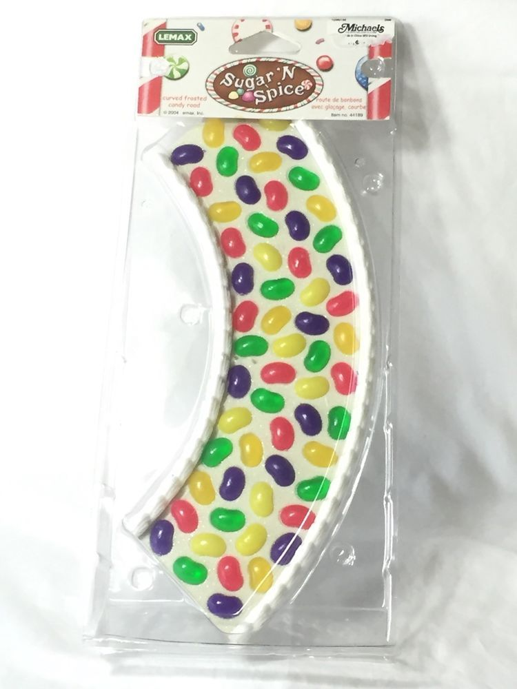 sugar n spice curved frosted candy road lemax christmas village discontinued new