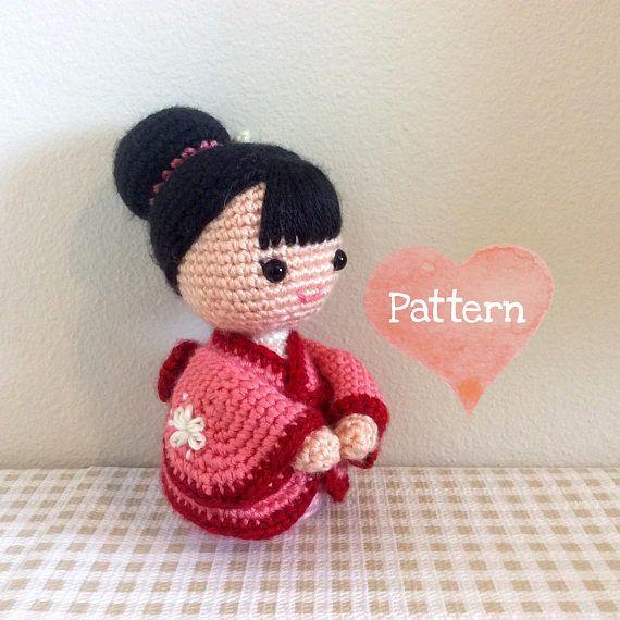 Amigurumi Japanese girl doll in a kimono. (Inspiration). By GIRLS ...   570x570