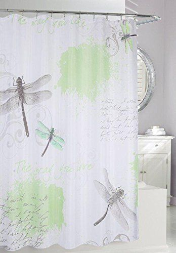 Butterflies Dragonflies Beetles Plants Fabric Bathroom Shower Curtain With Hooks