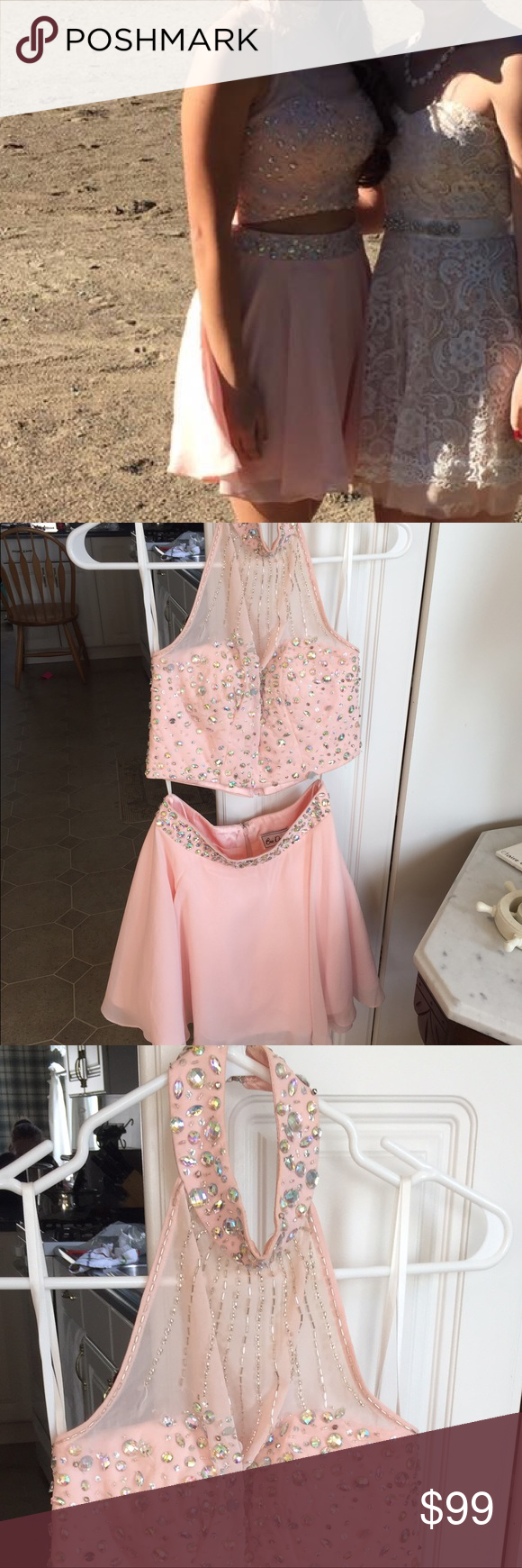Baby Pink Peach 2 Piece Dress Baby Pink Peach Dress Sparkly Two Piece I Bought This Dress From Windsor Store In The Great L Piece Dress Dresses Clothes Design [ 1740 x 580 Pixel ]