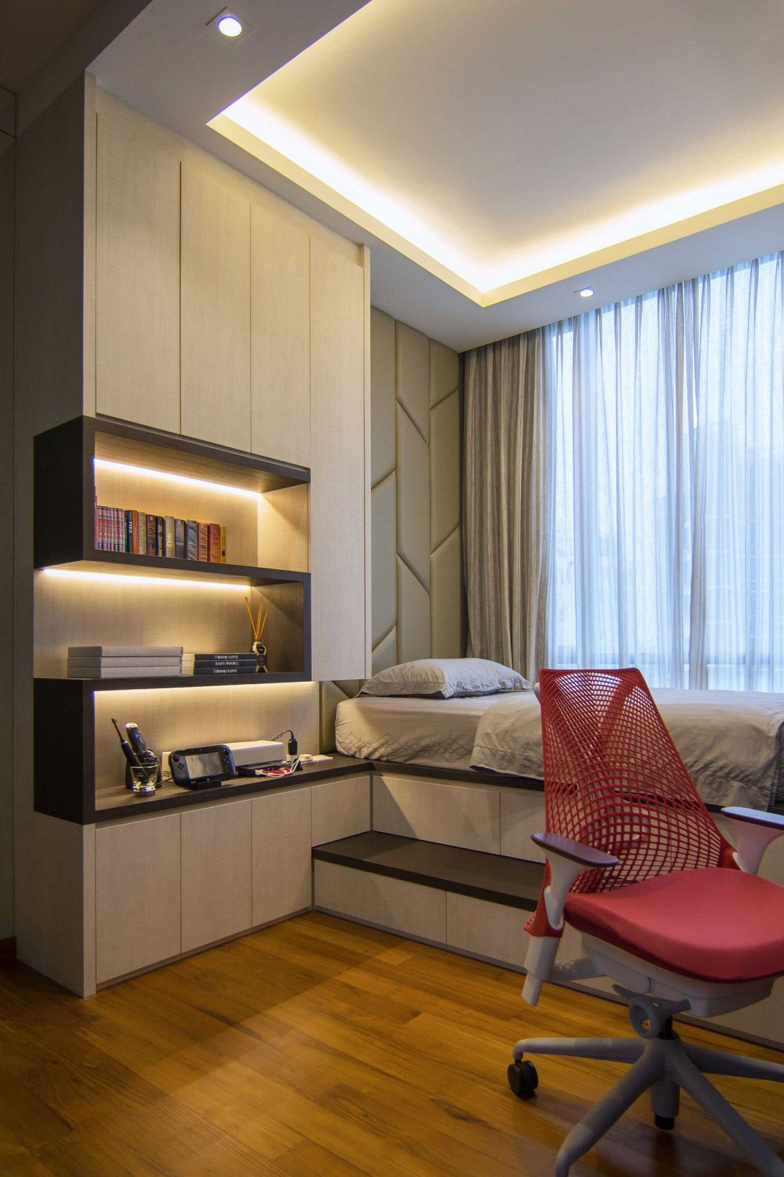Ameublement Petit Espace Elegant Contemporary Apartment In Singapore Tiny Studio
