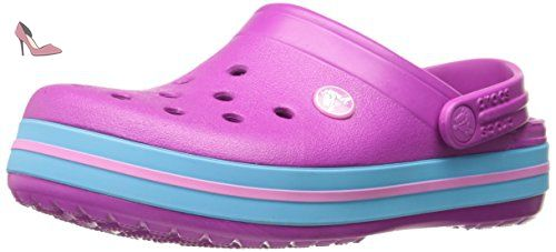 Crocband,Sabots Mixte Adulte, Violet (Neon Purple/Candy Pink), 42-43 EUCrocs