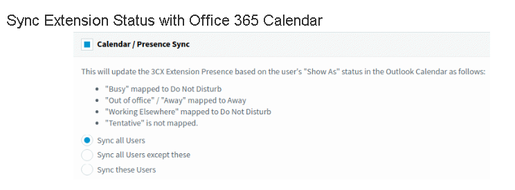 3CX Phone System Services Integration of Office 365 with 3CX