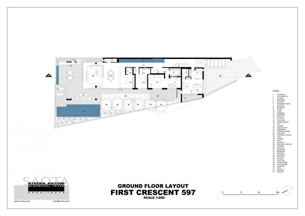 First Crescent   SAOTA Crescents, Ground floor and Modern house design - fresh blueprint architects cape town