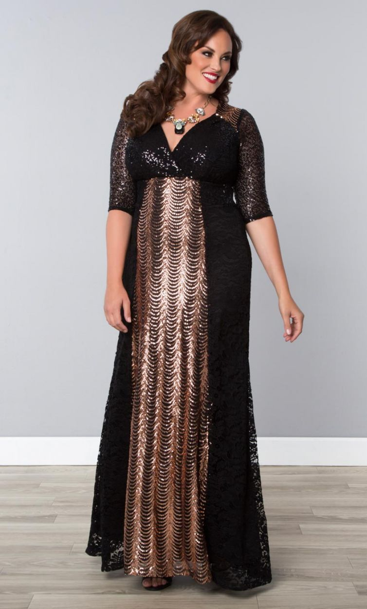 Grand Gatsby Gown, Rose Gold (Women\'s Plus Size) From the Plus Size ...