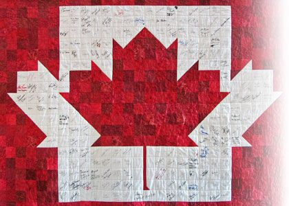 Tucson Quilt Show Guild | Flag quilt, Free pattern and Purse tutorial : canadian flag quilt - Adamdwight.com