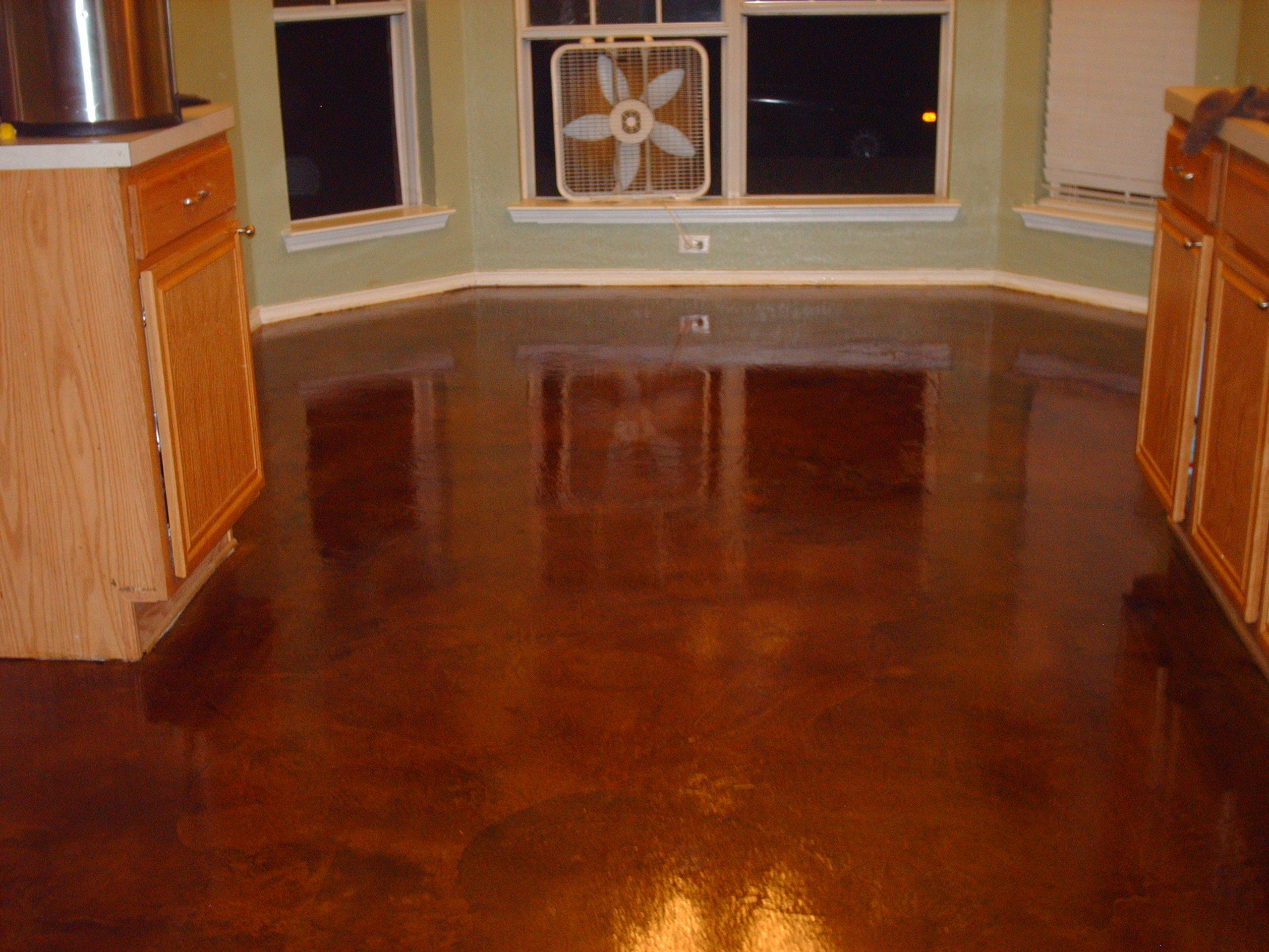Concrete Floors Cost Stained