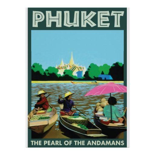 "Bangkok Thailand Travel Poster Vintage Art Print Silk 13×20/"" 24/""×36/"" Free"
