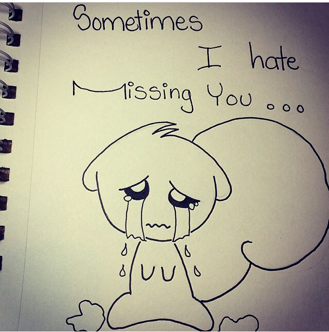 sometimes i hate missing you