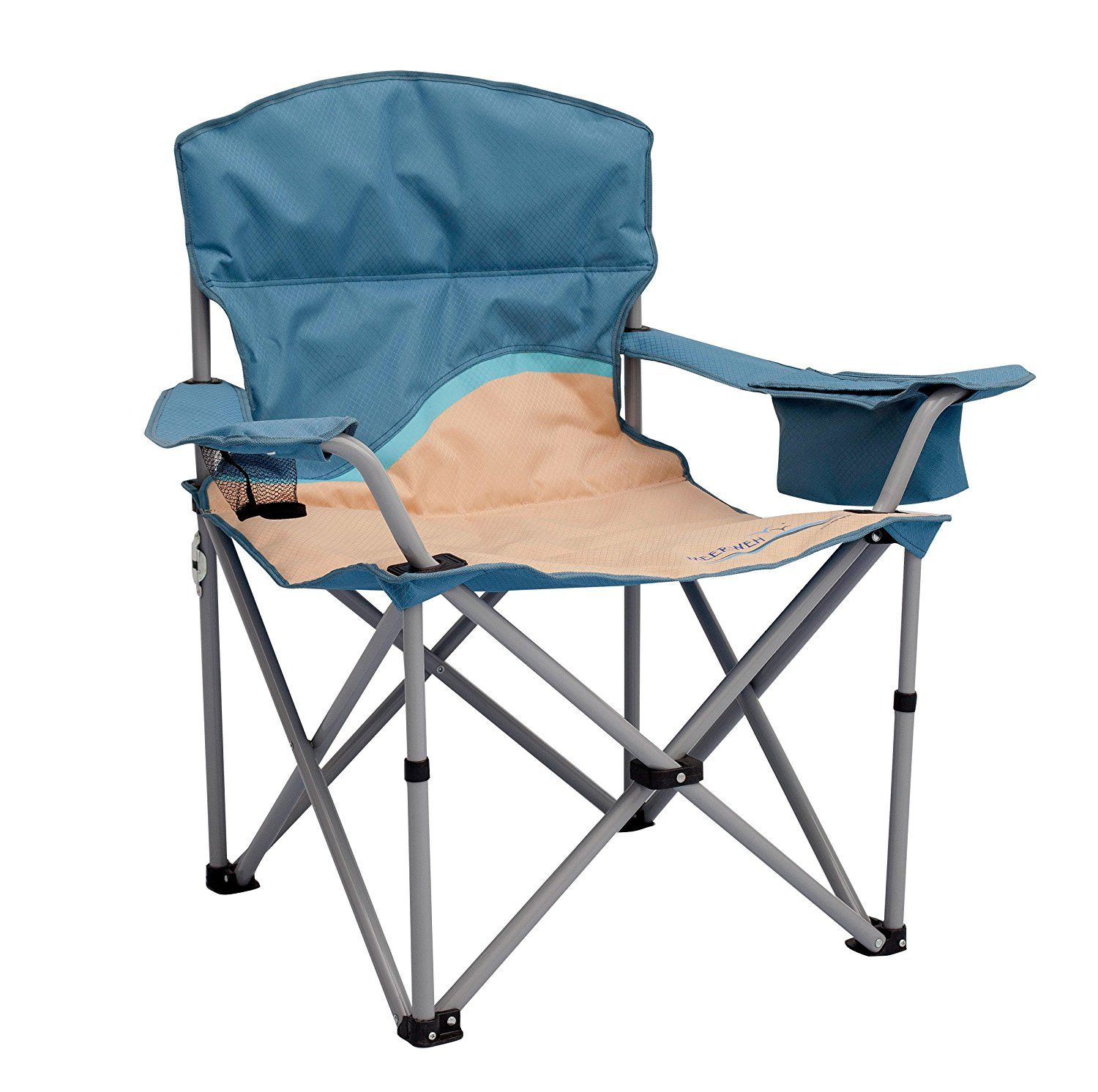 Meerweh 74046 Heavy Duty Folding Chair with Drink Holder