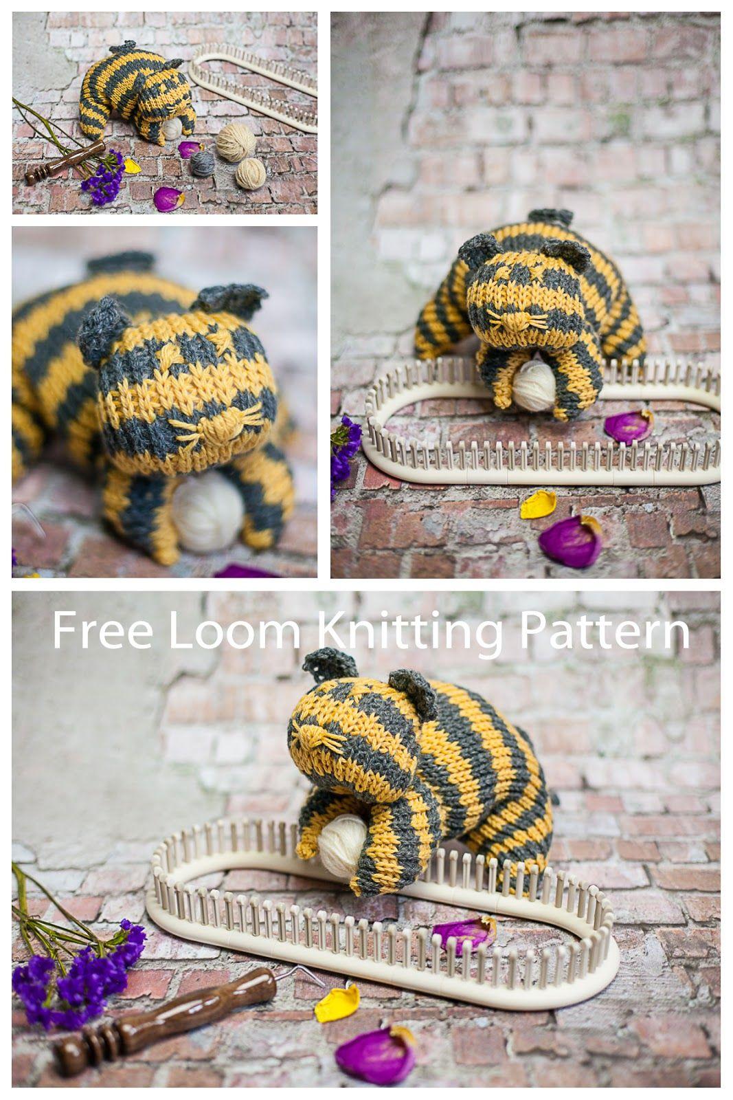 Loom Knit Cat Pattern (Free) | Loom knitting patterns, Loom knitting ...