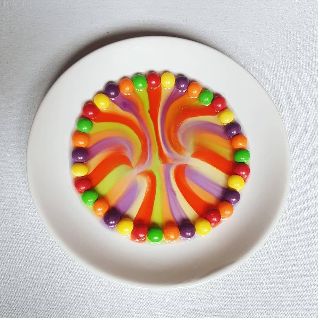 Tecza Jak Wam Sie Podoba Szymek Byl Zachwycony Efektem Koncowym Dziendobry Zabawazdzieckiem Zabawawdomu Naukaprzezzabaw Birthday Candles Cake Desserts