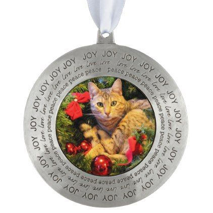 joy love peace christmas cat round ornament xmas christmaseve christmas eve christmas merry xmas family