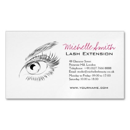 Makeupartist Businesscards Eye Sketch Mascara Lash Extension Branding Magnetic Business Card