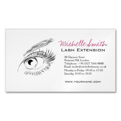Makeupartist Businesscards Eye Sketch Mascara Lash Extension Branding Magnetic Business Card