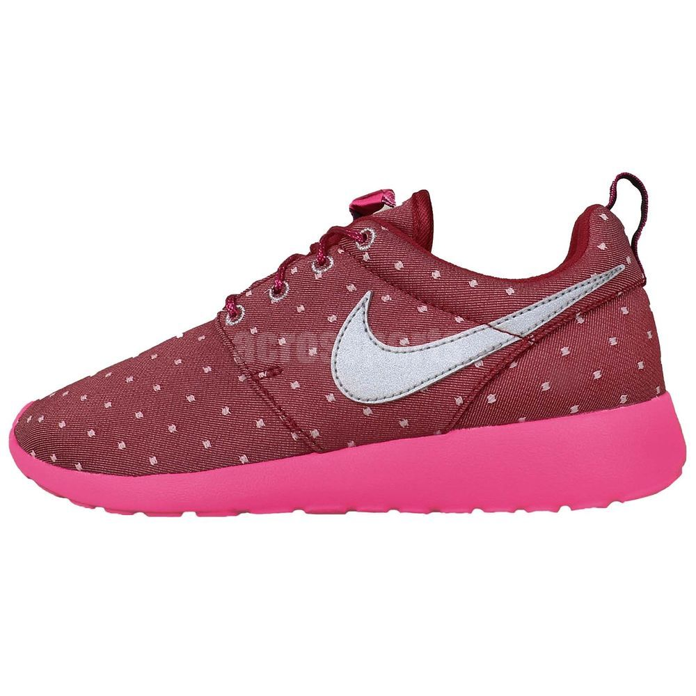 42a16b2dc611 Nike Rosherun Print GS Roshe Run Red Pink Silver Girls Womens Running Shoes  http