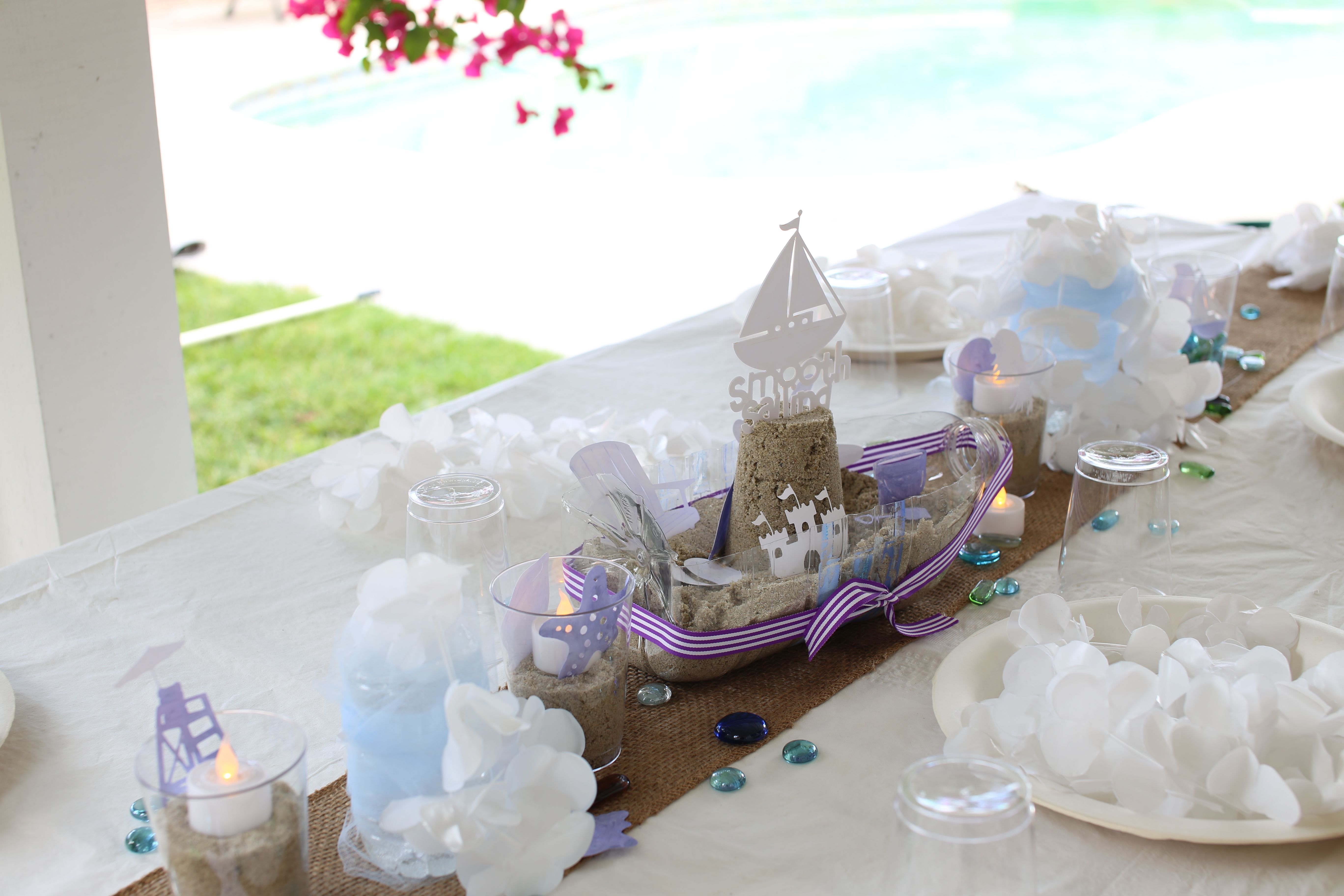 Awesome Beach Party Table Centerpieces