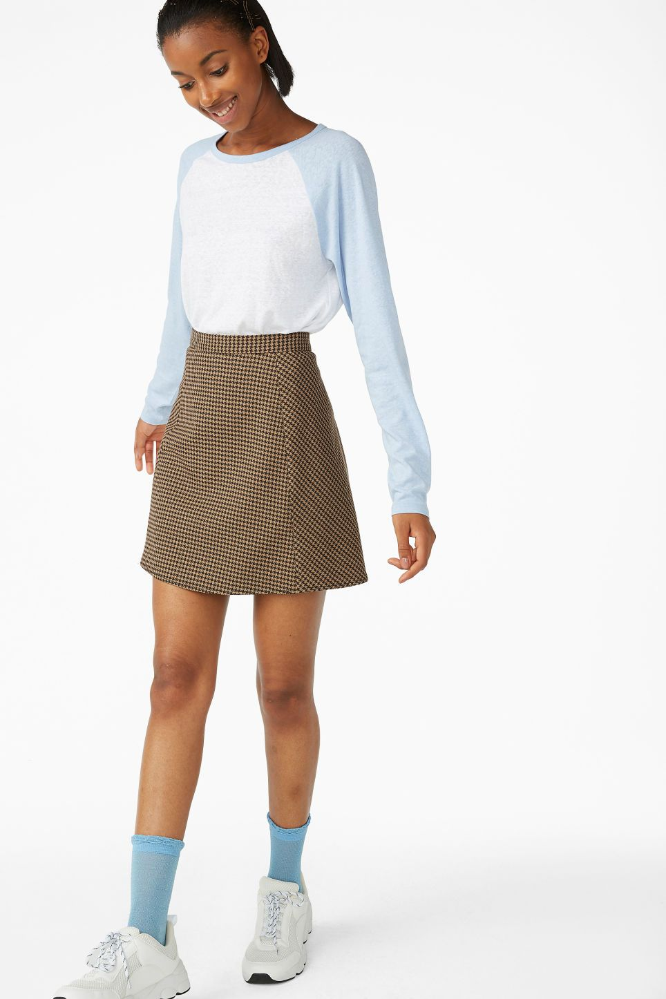 8e895d4bcb Houndstooth mini skirt - Houndstooth - Skirts | AW18 | Houndstooth ...