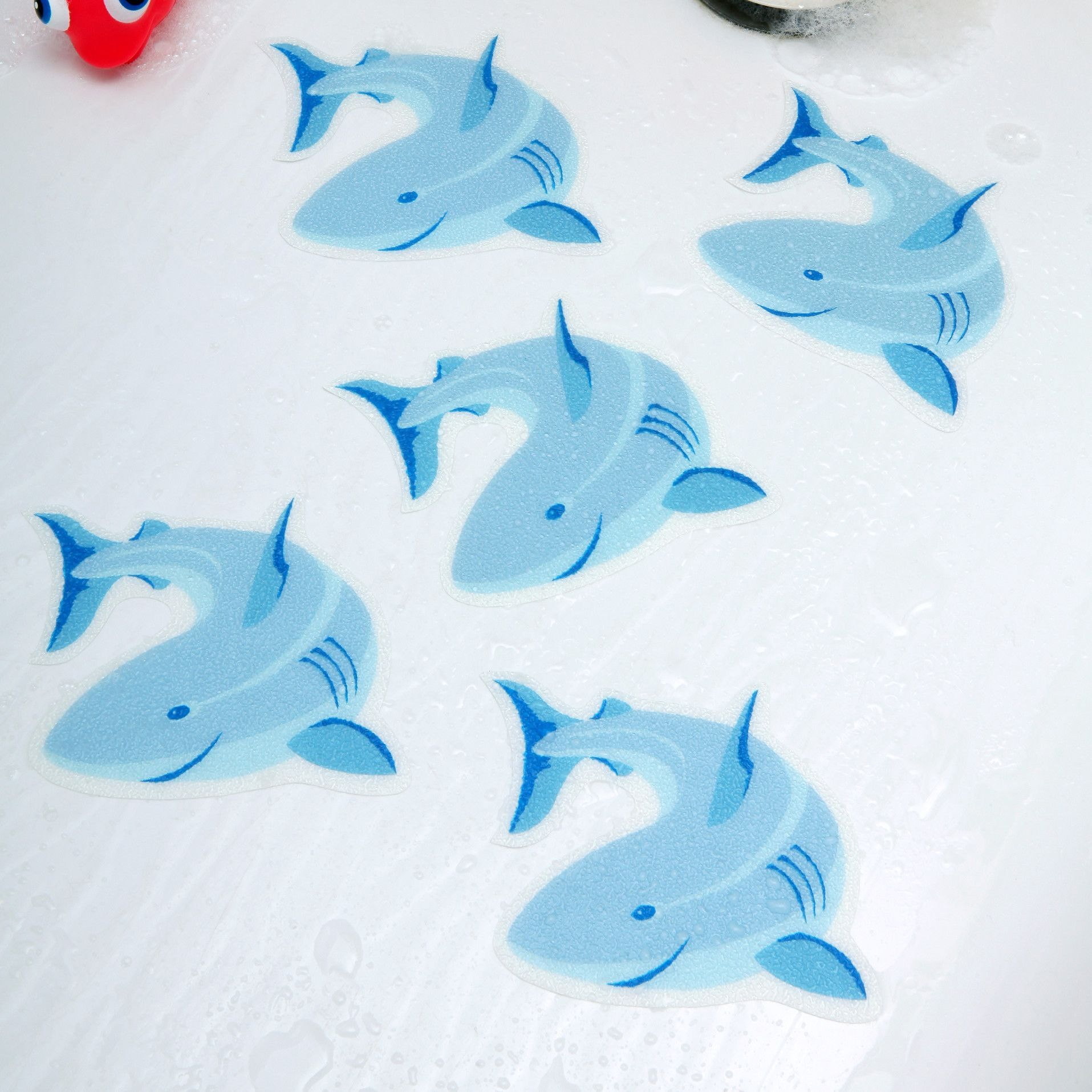 Shark Tub Tattoo Plastic Vinyl Non Slip Shower Mat In 2020 Shark Bathroom Bathroom Kids Non Slip Shower Mat