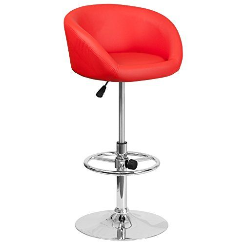 Luxury Red Fabric Bar Stools