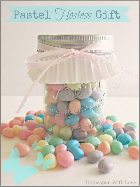 Homespun with love pastel hostess gift gifts ii pinterest gift we are going to the nieces house for easter and thought we would show our appreciation by making a simple yet thoughtful hostess gift negle Choice Image