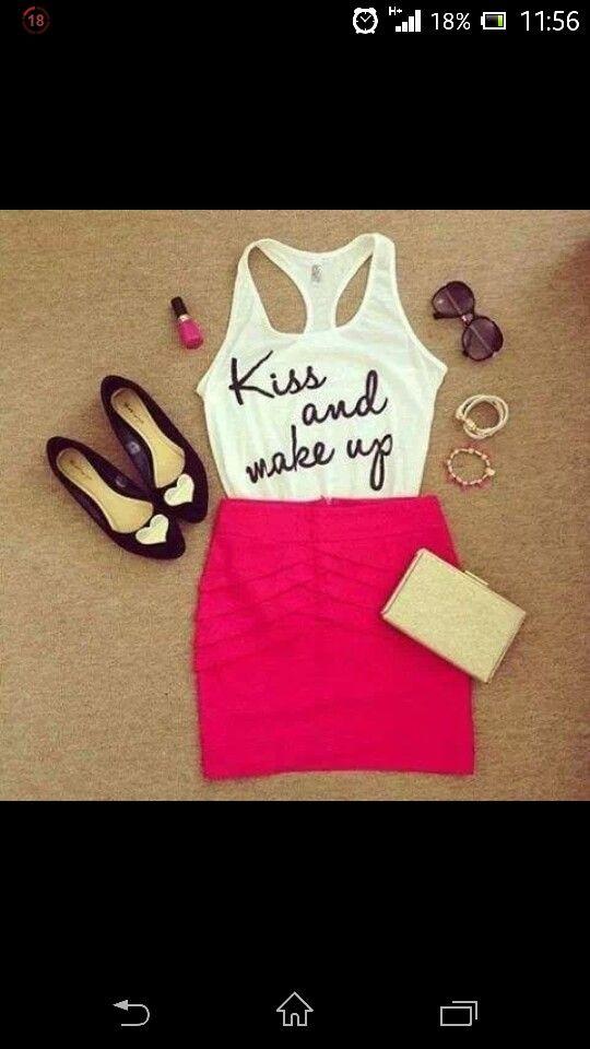 Kiss and makeup cuteness