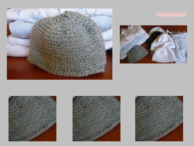 photo tricot tricot modele bonnet naissance 16   tricot bebe   Pinterest 8400e59a0f7