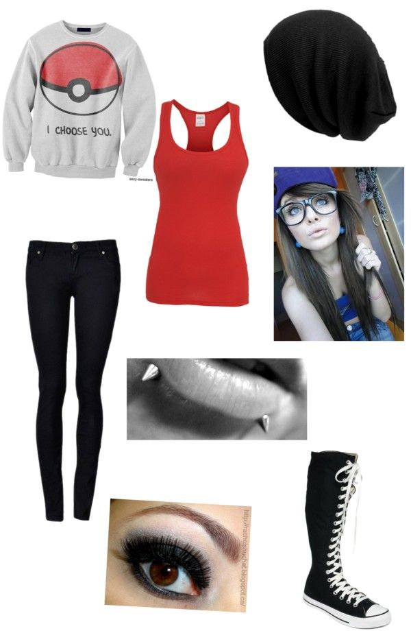 """""""okayyy"""" by lashayme ❤ liked on Polyvore >>> I like everything but I can't stand those tall converse.."""