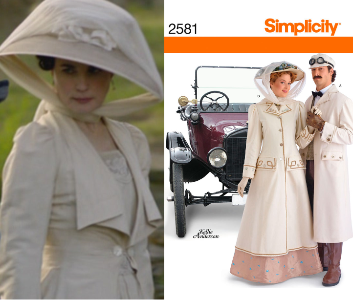 simplicity pattern 2581 edwardian riding coat and hat