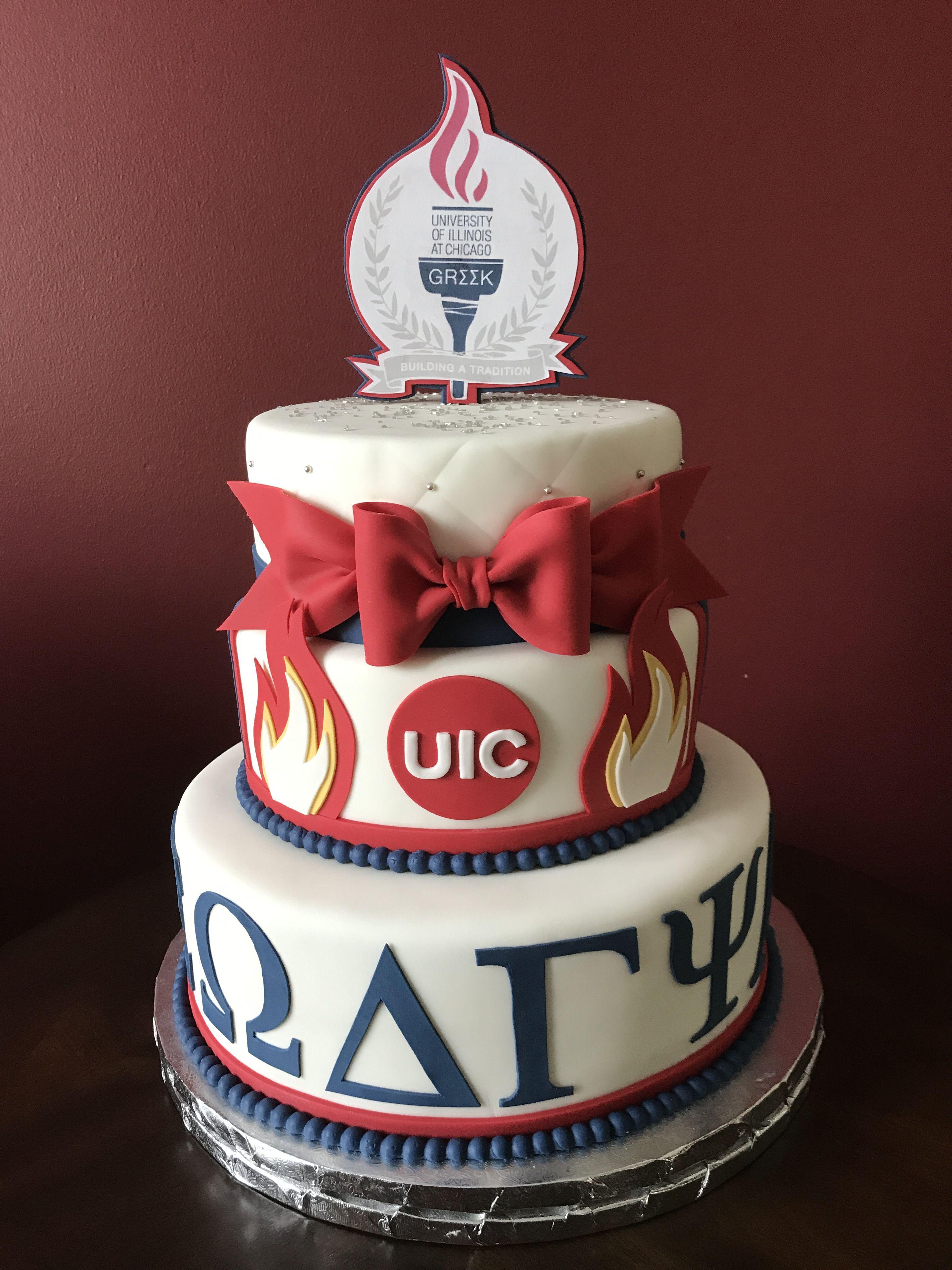 Uic Greek Awards Cake Graduation Cakes Pinterest Cake