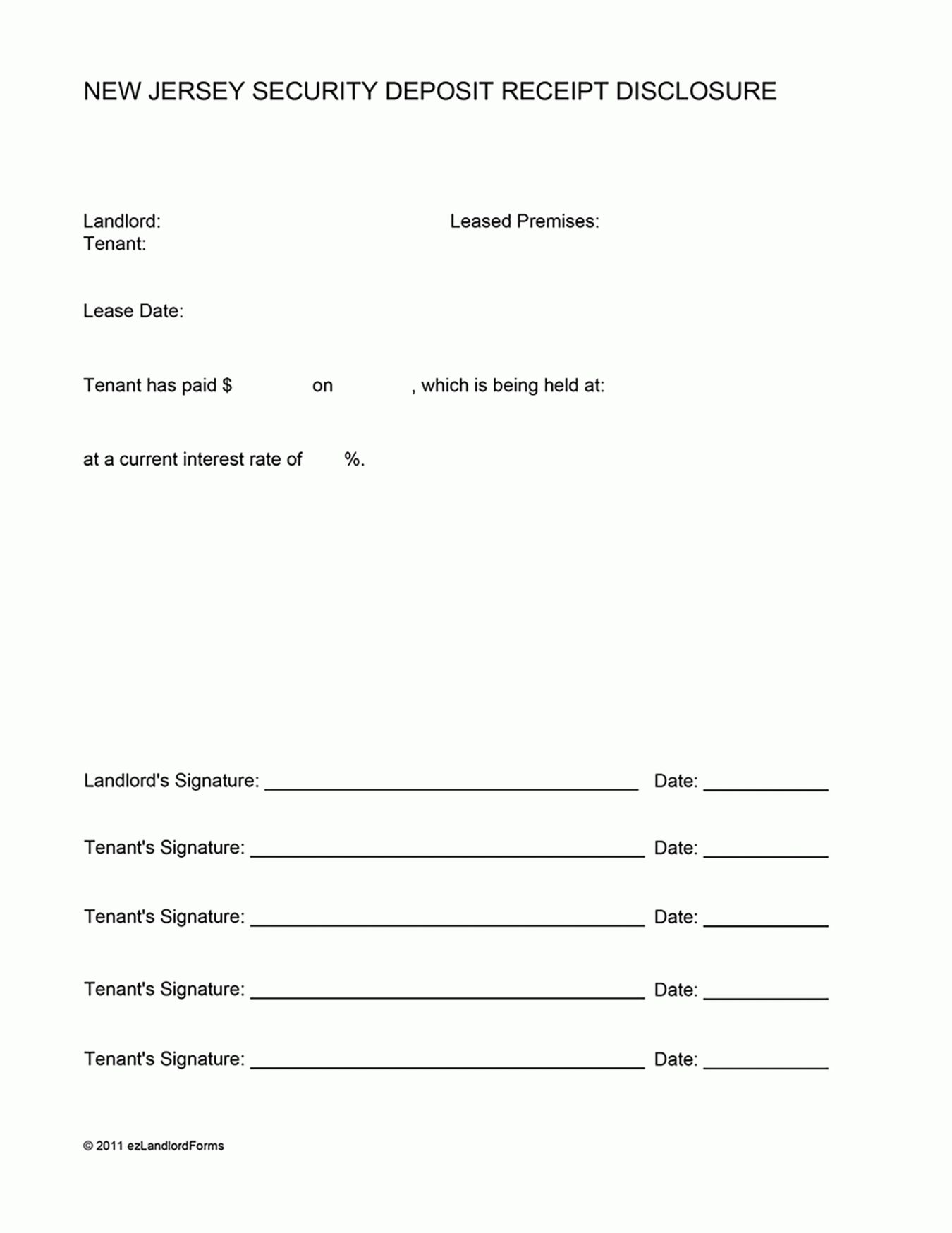 Browse Our Image Of Holding Deposit Form Template Being A Landlord Proposal Letter Deposit