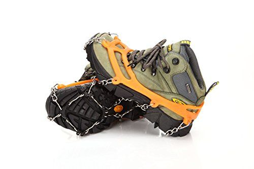 abcGoodefg?Pair Anti Slip 8 Teeth Ice Claws Crampons Non-Slip Shoes Cover with Stainless Steel Chain Snow for Outdoor Ski Hiking Climbing Dig Ect. by abcGoodefg HXUIJ