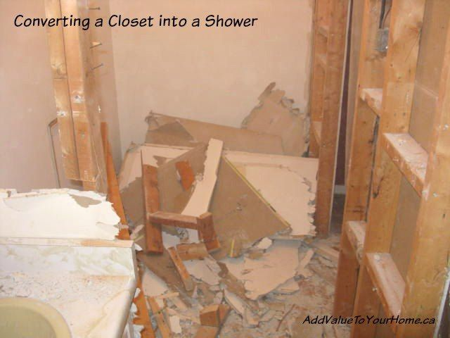 Convert a Closet Into a Shower - Add Value To Your Home!!!