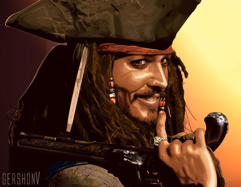 Captain Jack Sparrow by gershonv