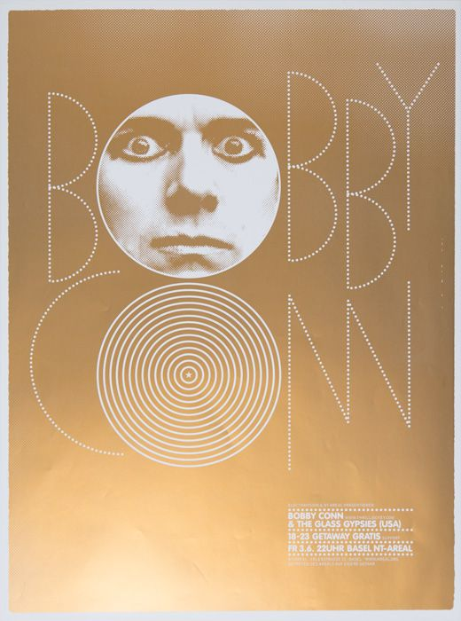 Bobby Conn & the Glass GypsiesDesign: Marco PapiroScreen print, 520 × 700 mm