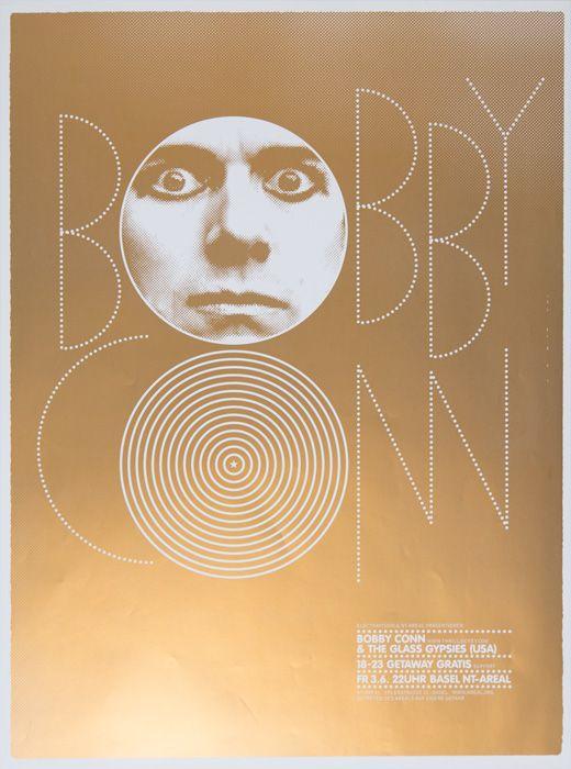 Bobby Conn & the Glass GypsiesDesign: Marco PapiroScreen print, 520× 700mm