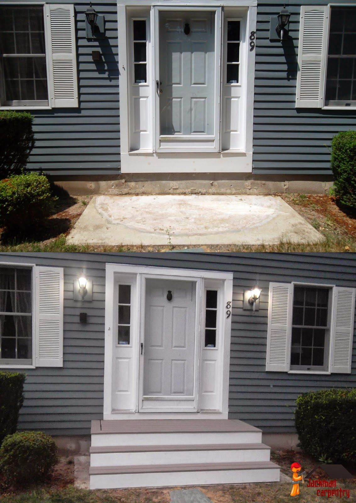 Jackman Works Entry Steps   Front porch steps