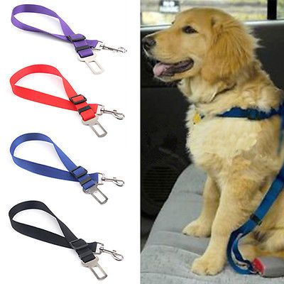 Useful Pet Dog Car Travel Seat Belt Clip Lead Restraint Harness Auto Traction