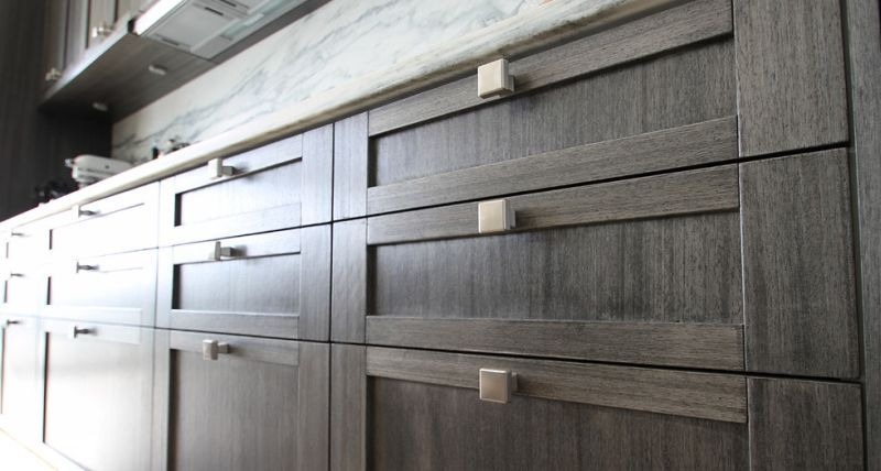 Inspirational Gray Wood Stain Cabinets