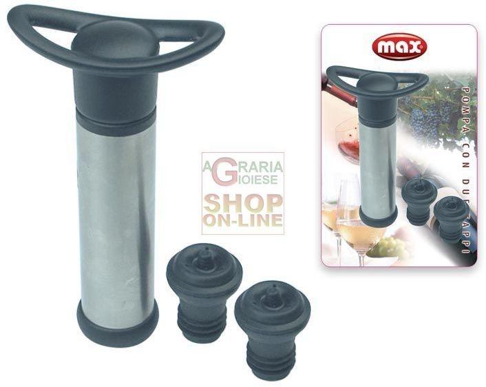 MAX POMPA CON DUE TAPPI SOTTOVUOTO PALLBOX http://www.decariashop.it/home/10875-max-pompa-con-due-tappi-sottovuoto-pallbox.html