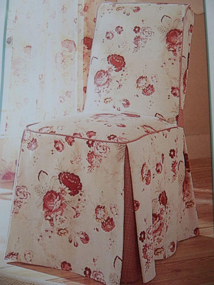 Waverly Vintage Norfolk Rose Chair Slipcover Garden Room Shabby Cottage Chic New Shabby Chic Slipcovers Shabby Shabby Chic Cottage