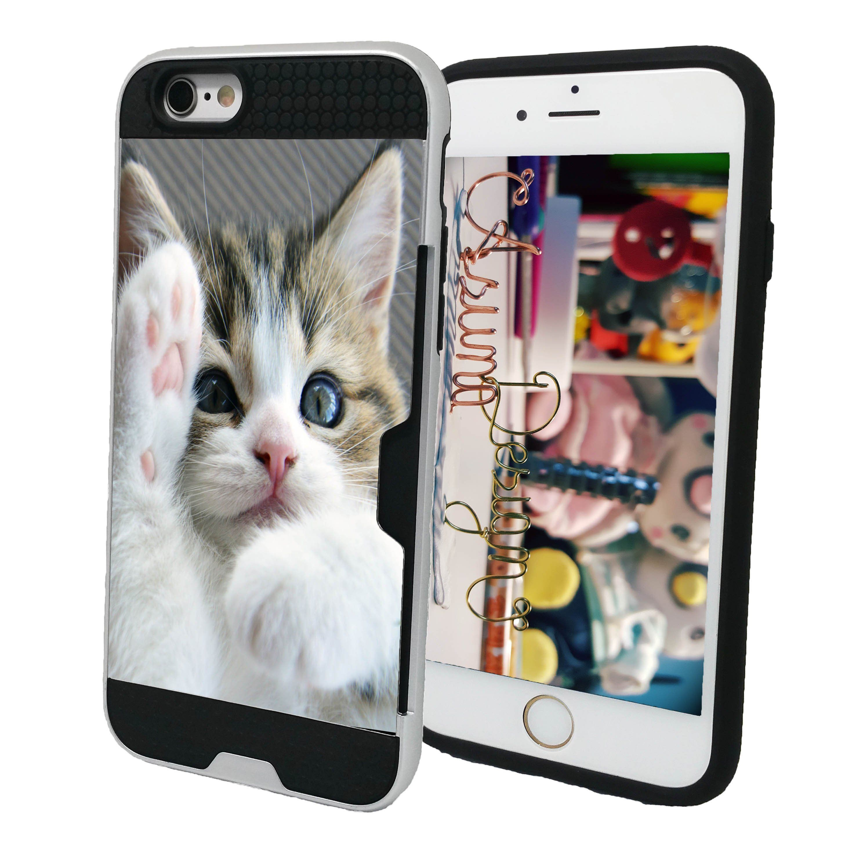 new style c5bc2 cbab7 Personalized Phone Case Custom Cat Picture - Shockproof Dual Layer ...