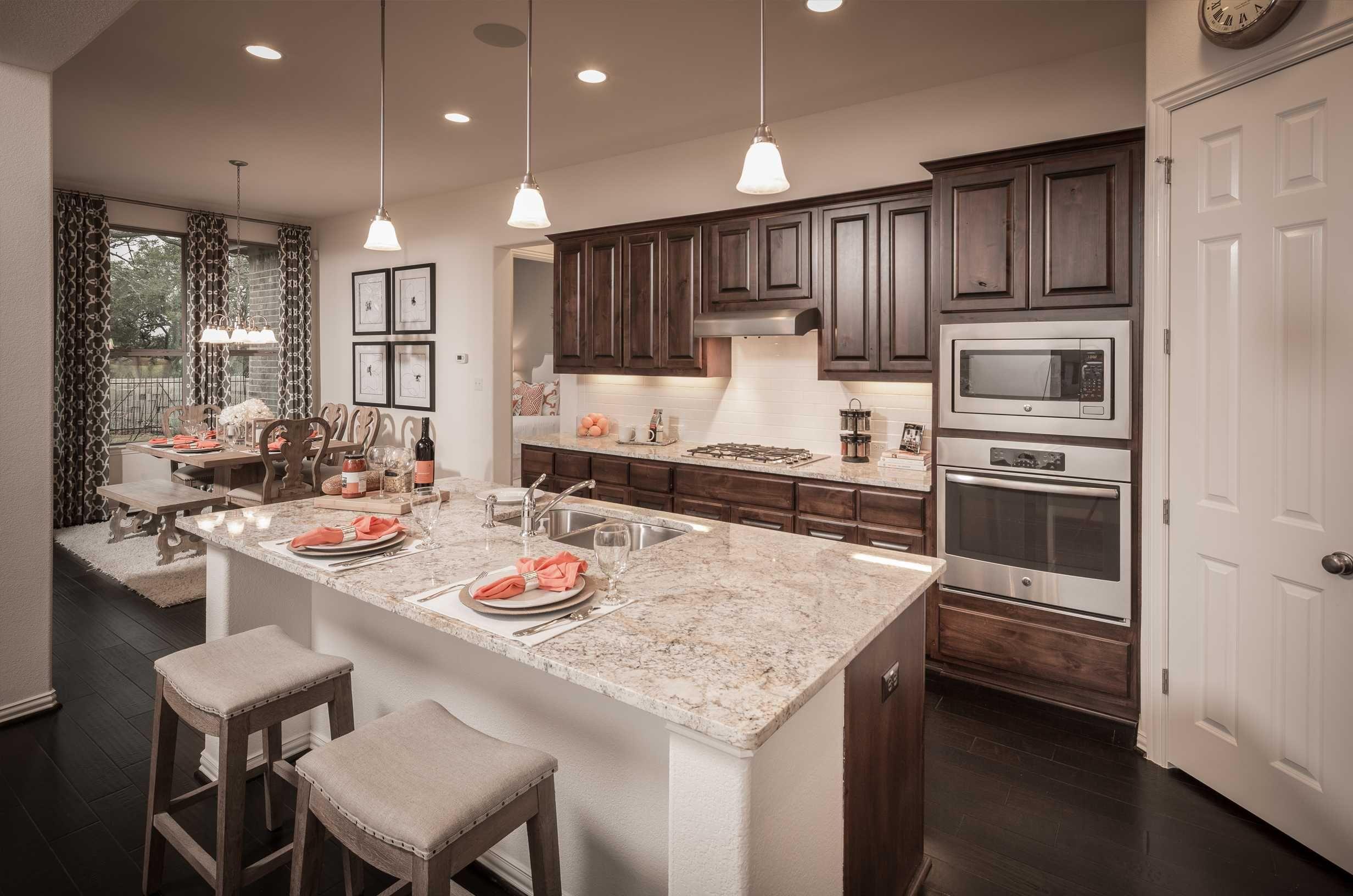 Highland Homes Plan 245 Model Home In Austin Texas Santa Rita Prepossessing New Model Kitchen Design Decorating Design
