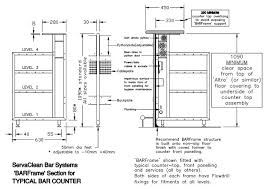 image result for bar counter detail drawing architectural details