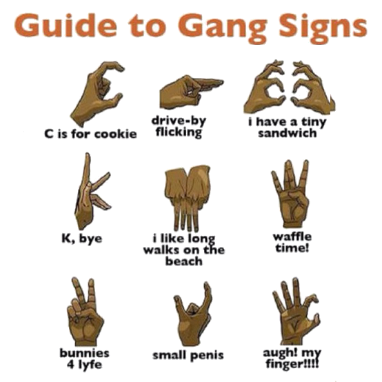 Guide to gang signs the real meaning humor foodie bloods gang signs hand the gang sign should be altavistaventures Images